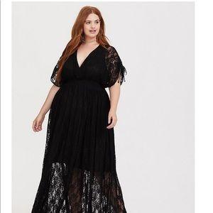 Torrid Black Stretch Lace Maxi Dress SZ 3